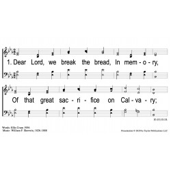 The Breaking of Bread-PPT Slides
