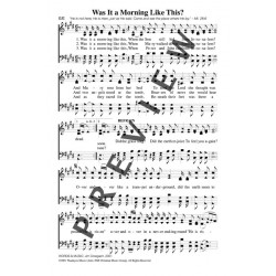 Was It a Morning Like This-PDF Song Sheet