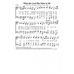 What the Lord Hath Done in Me PDF Song Sheet