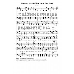 Amazing Grace-My Chains are Gone-Standard Notes PDF Song Sheet