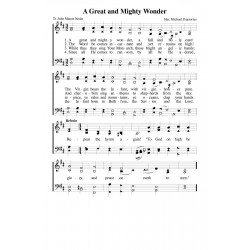 A Great and Mighty Wonder-PDF Song Sheet