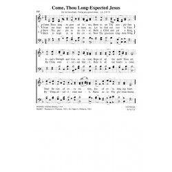 Come Thou Long Expected Jesus-PDF Song Sheet