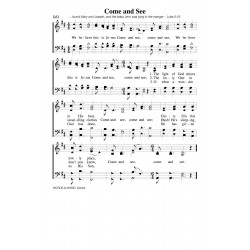 Come and See - PDF Song Sheet