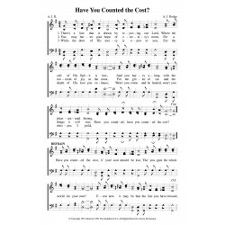 Have You Counted the Cost-PDF Song Sheet