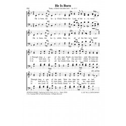 He Is Born - PDF Song Sheet