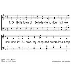 O Little Town of Bethlehem-PPT Song Sheet